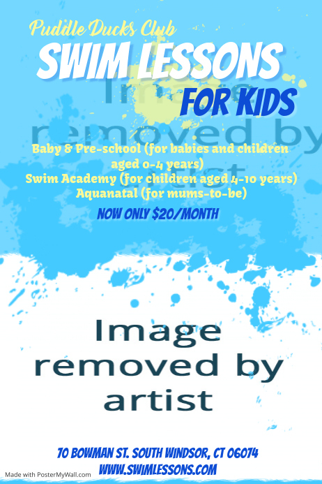Swim Lessons Template Postermywall