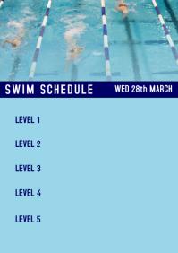 Swim Meet Schedule A4 template