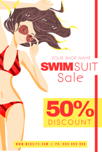 Swim Suit Sale Poster