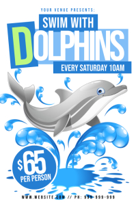 Swim With Dolphins Poster