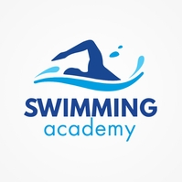 Swimming Academy Logo Template