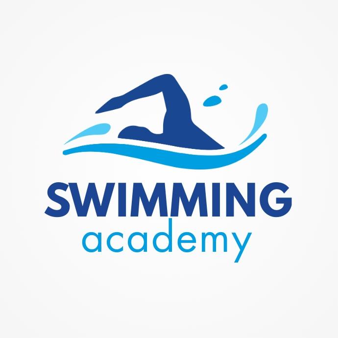 Swimming Academy Logo Template