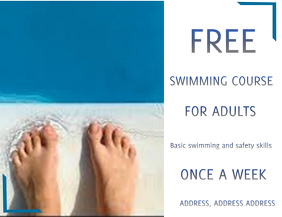Swimming course flyer