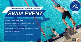 Swimming Event Template Facebook Shared Image