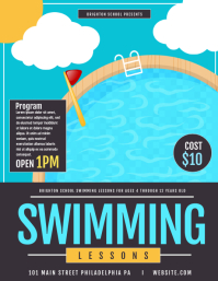 Swimming lessons Flyer (US Letter) template