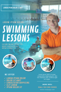 swimming lessons flyer template