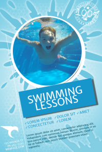 Customizable Design Templates For Swimming Lessons