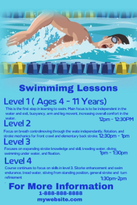 Swimming Lessons Template