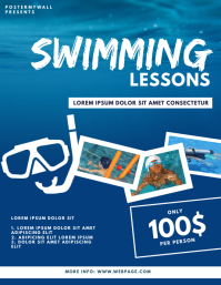 Swimming lessons scuba Diving Flyer Template