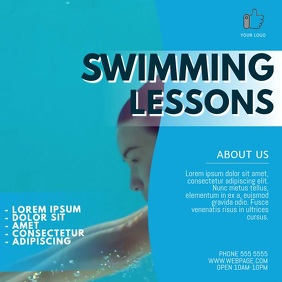 Swimming Lessons Video Ad Template