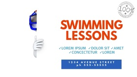 Swimming Lessons Video Promotion Template for facebook