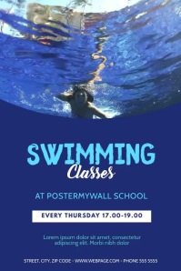 swimming lessons Video template