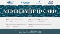 Swimming Membership Card Template Kartu Bisnis