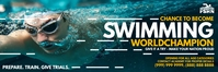 Swimming Opportunity Banner Template Transparent 2 stopy × 6 stóp