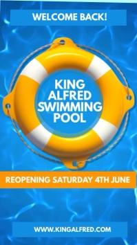 Swimming Pool Video Marketing Template Tampilan Digital (9:16)