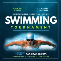 Swimming Tournament Publicación de Instagram template
