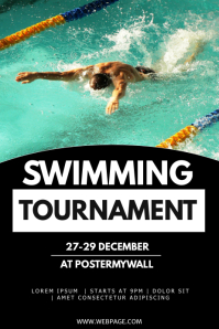 Swimming tournament flyer template