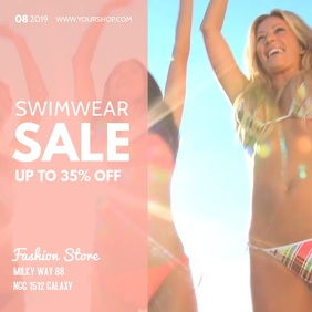 Swimwear Sale Video Bikini Summer Fashion Ad
