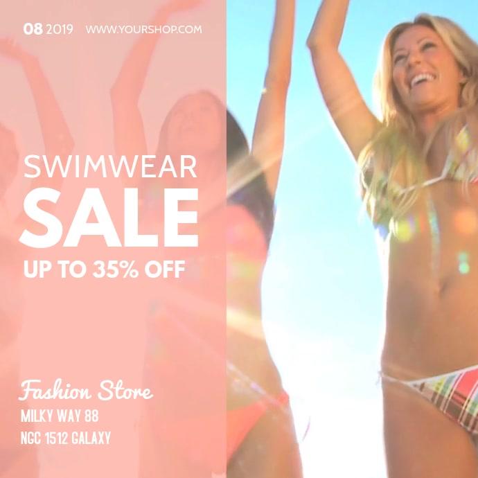 Swimwear Sale Video Bikini Summer Fashion Ad