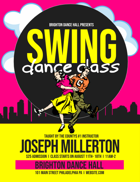 Swing dance Template | PosterMyWall