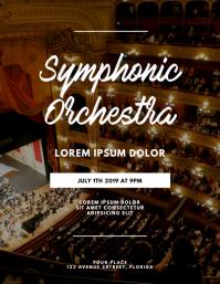 Symphonic Orchestra Jazz Flyer template