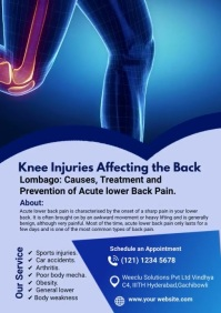 Symptoms of Knee Pain A4 template