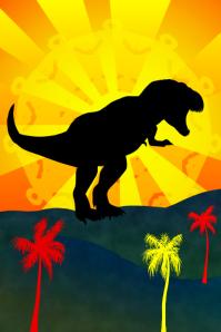 t-rex tyrannosaurus rex - dino - dinosaur template