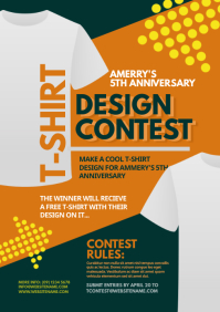 T-Shirt Design Contest Flyer A4 template