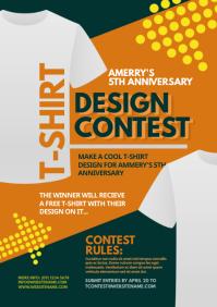T-Shirt Design Contest Flyer A4 template