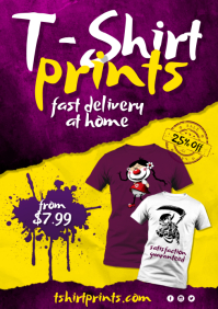 T-shirt print Flyer A4 template