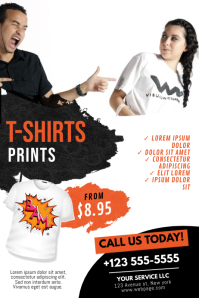 T shirts print shop business flyer template