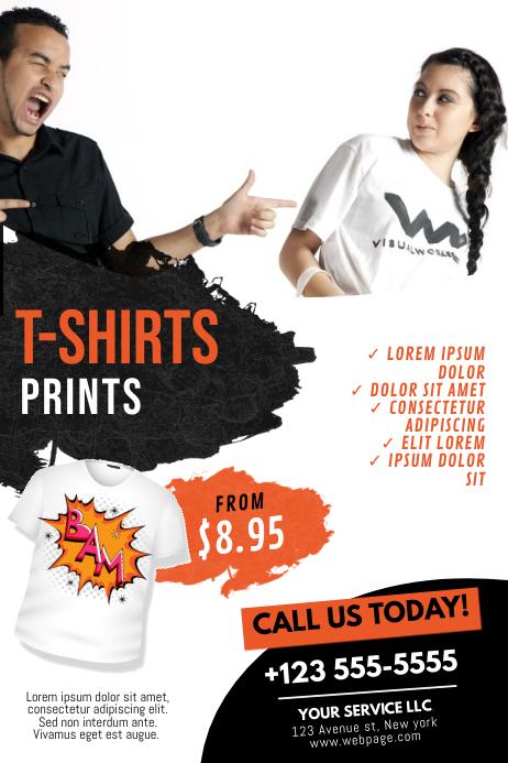t shirt flyer