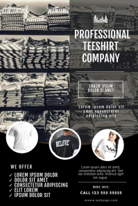 T shirts Printing Company Flyer Template