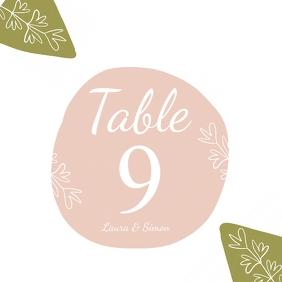 table no. wedding card