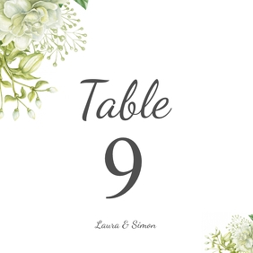 table no. wedding card