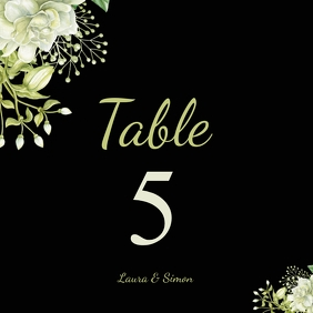 table no. wedding card Square (1:1) template