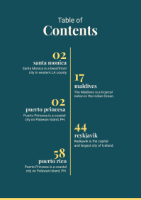 Table of Contents Magazine A4 template