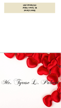 Table Place Setting Card Visitekaartje template