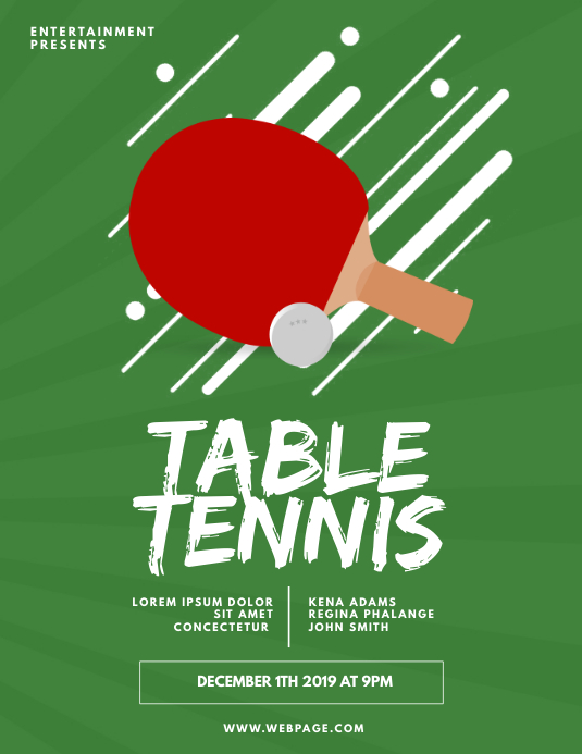 Table Tennis Flyer Design Template | PosterMyWall