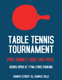 Table Tennis Ping Pong Tournament Flyer