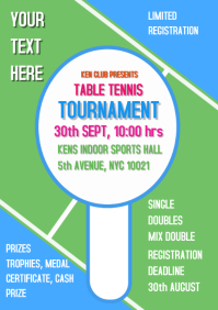Table Tennis Sports Flyer