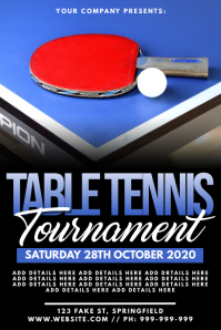 Table Tennis Tournament Poster