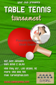 Customizable design templates for table tennis postermywall for Table tennis tournament template