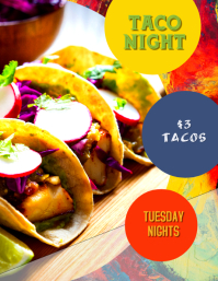Taco Night Special for Restaurant flyer poster ad