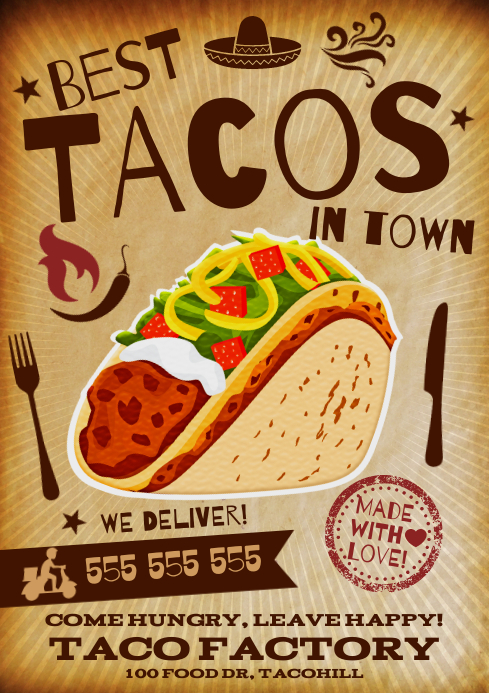 TACO POSTER A4 template