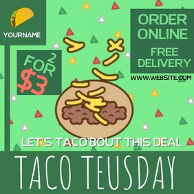 TACO TEUSDAY AD SOCIAL MEDIA TEMPLATE