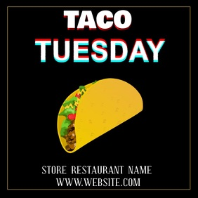 TACO TUESDAY ad digital video template