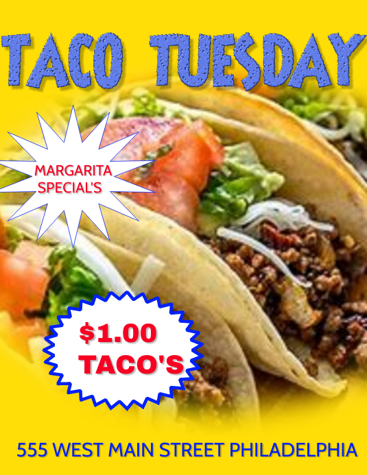 TACO TUESDAY BAR TACO TUESDAY Template | PosterMyWall