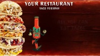 TACO TUESDAY V. 1 Digitale display (16:9) template