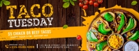 Taco tuesday facebook cover ad banner template
